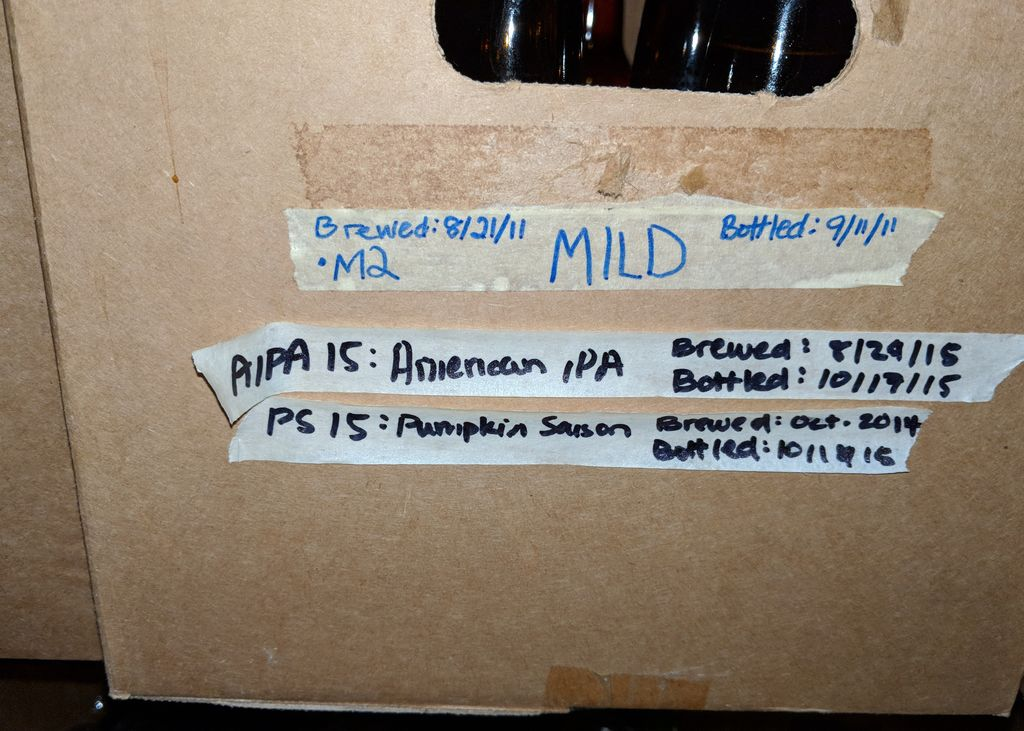 Why, yes, that does say Brewed Oct. 2014 Small | Medium | Large | Xlarge | Original